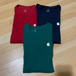 Lot of 3 Apple longsleeves Tee Shirt size Small